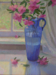 Rhododendrons in a Blue Vase