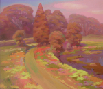 Study of Wildflower Path in Spring